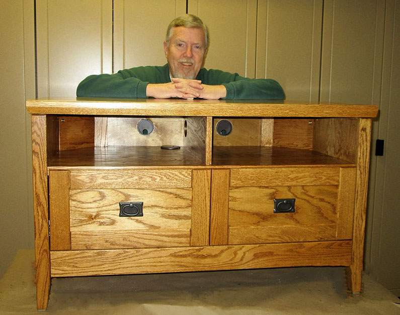 Gerry Jensen with TV Cabinet